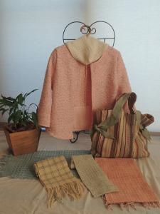 手織り作品
